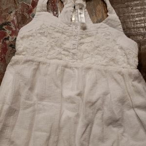 White lace crepe spring dress